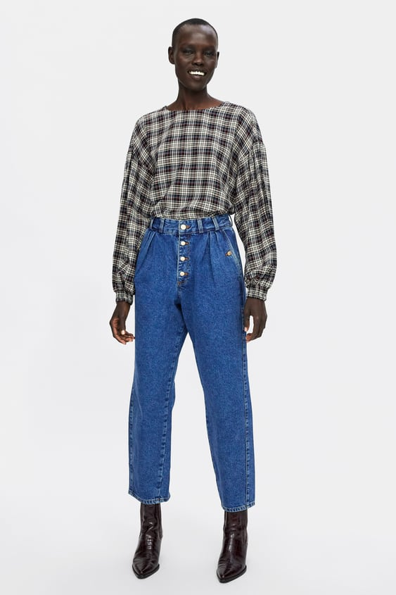 Z1975 Pleated Baggy Jeans  View All Jeans Woman by Zara