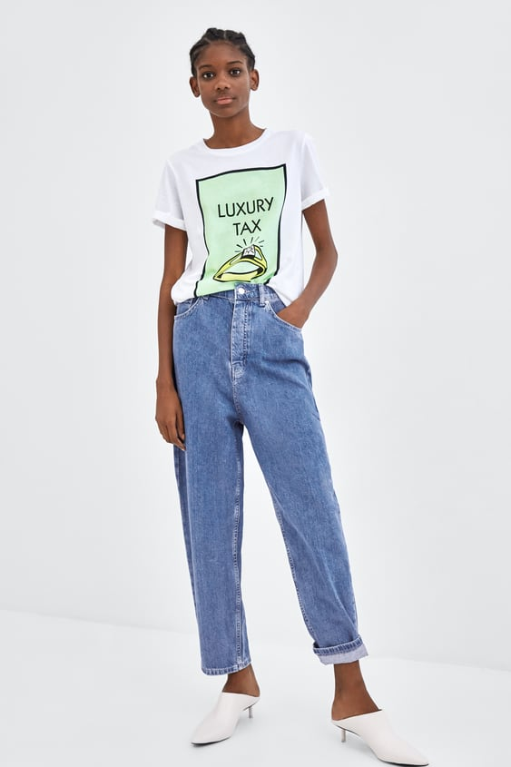 Jeans Com ElÁstico Na Cintura  Ver Tudo Jeans Trf by Zara