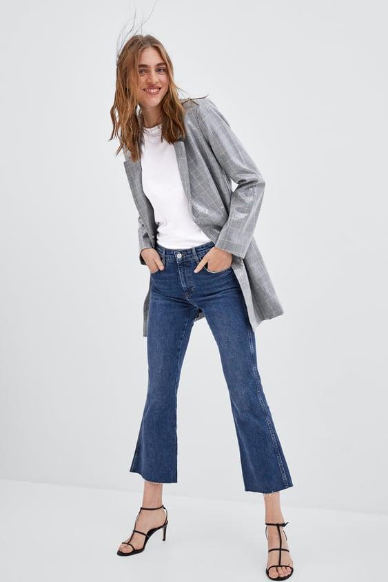 Jean Taille Haute Court ÉvasÉ  Taille Haute Hauteur De Taille Jeans by Zara