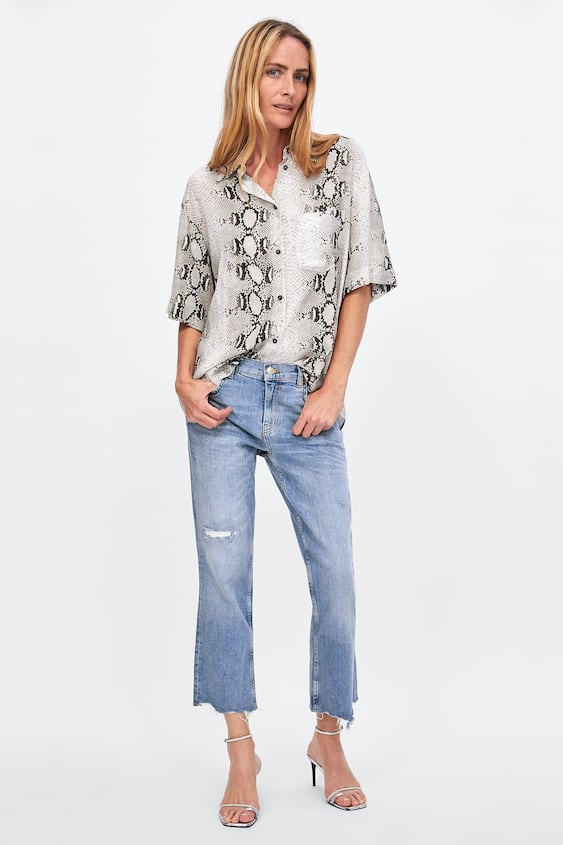 Zw Premium Boot Cut Venice Blue Jeans  View All Jeans Woman by Zara
