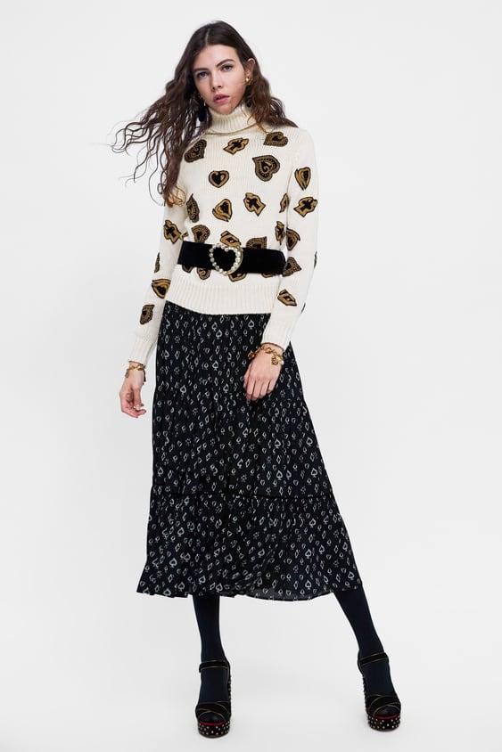 Zara Knit Sweater with Beading