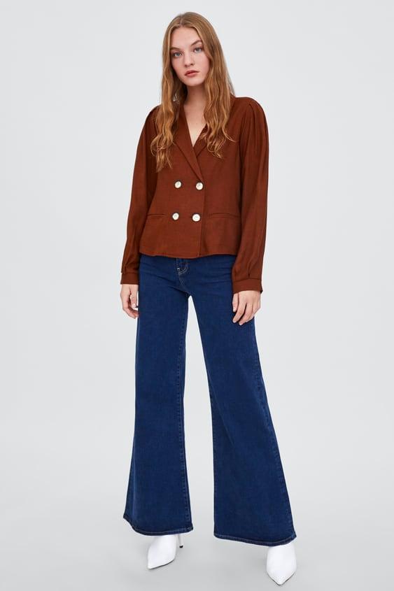 Blusa Cruzada Com BotÕes  Ver Tudo Camisas E Blusas Trf by Zara