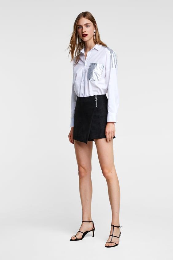 Faux Suede Skort  Shortswoman by Zara