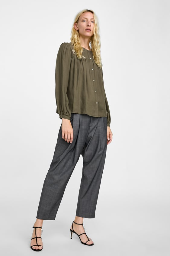 Gathered Blouse  View All Tops Woman by Zara