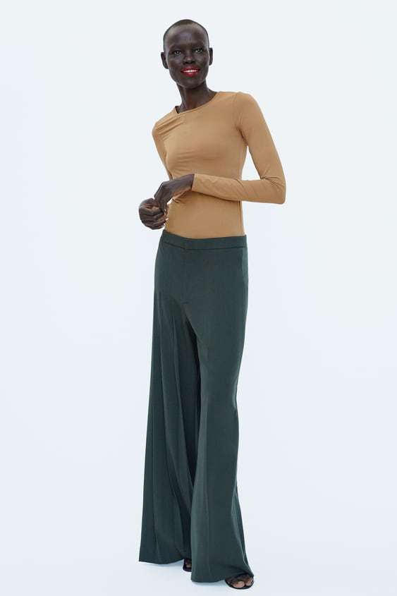 Combined Fabric Bodysuit  View All Tops Woman by Zara