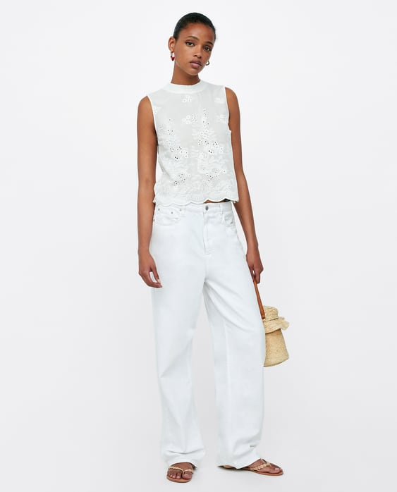 floral-embroidery-top--view-allshirts by zara