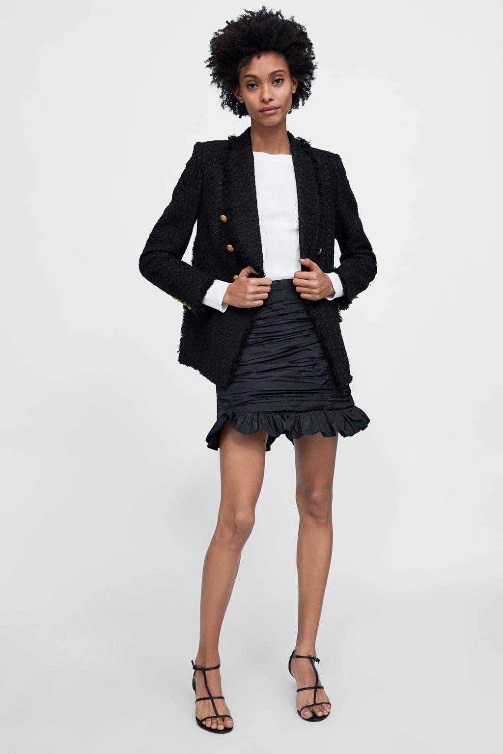 Blazer In Tweed Con Bottoni  Blazersdonna by Zara
