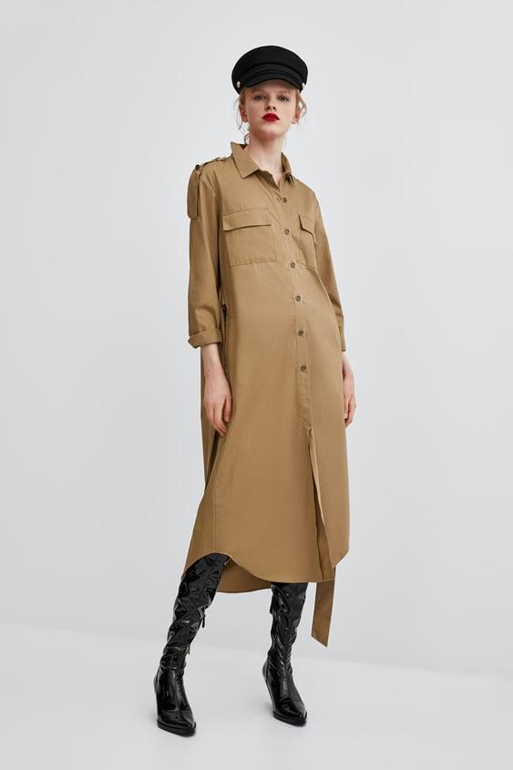 Midi Shirt Dress  Shirt Dress Dresses Woman by Zara