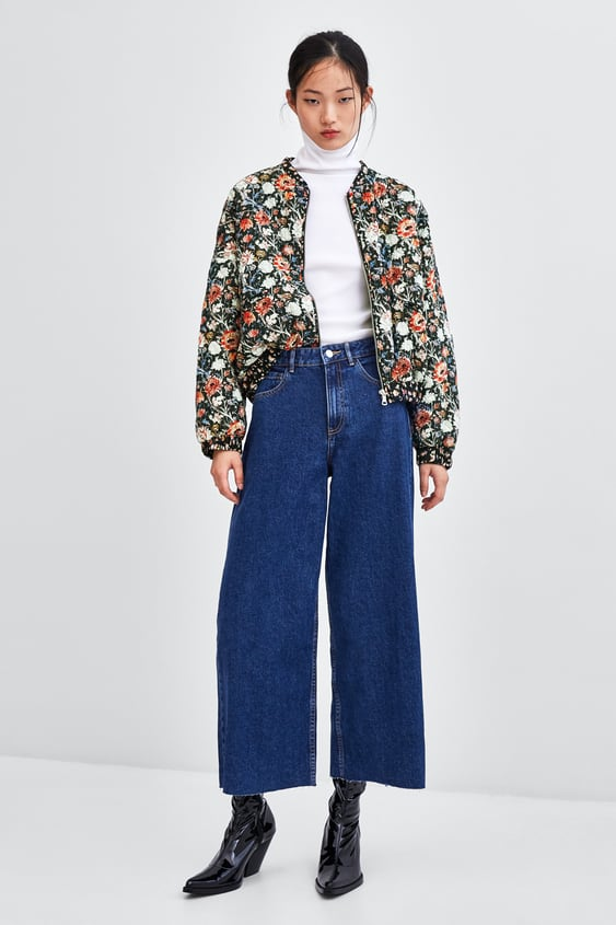 Printed Quilted Bomber Jacket  Jackets Jackets Woman by Zara