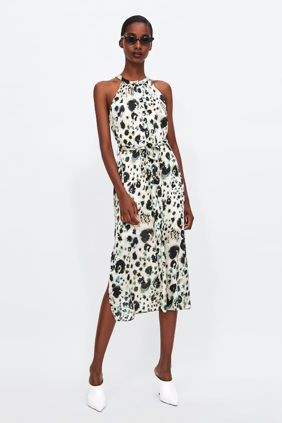 Animal Print Halter Dress  View All Dresses Woman by Zara