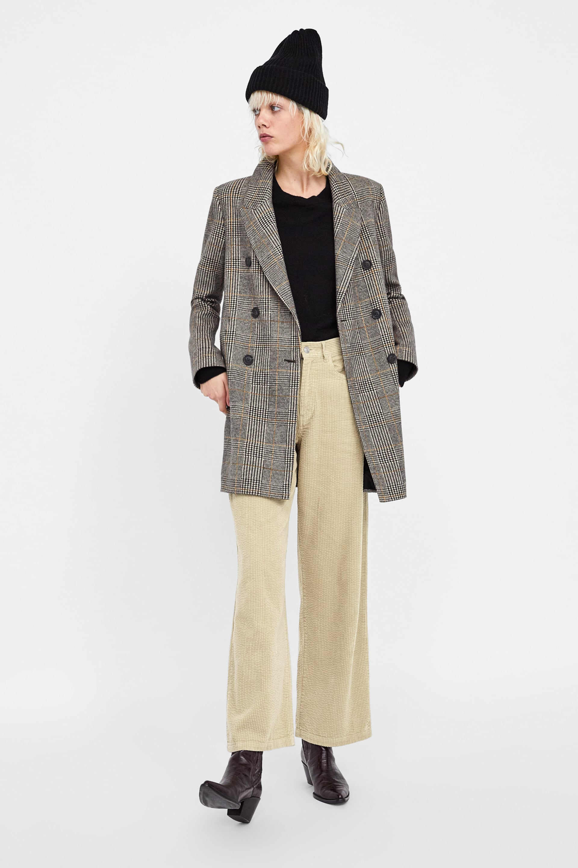 Check Coat  New Inwoman by Zara