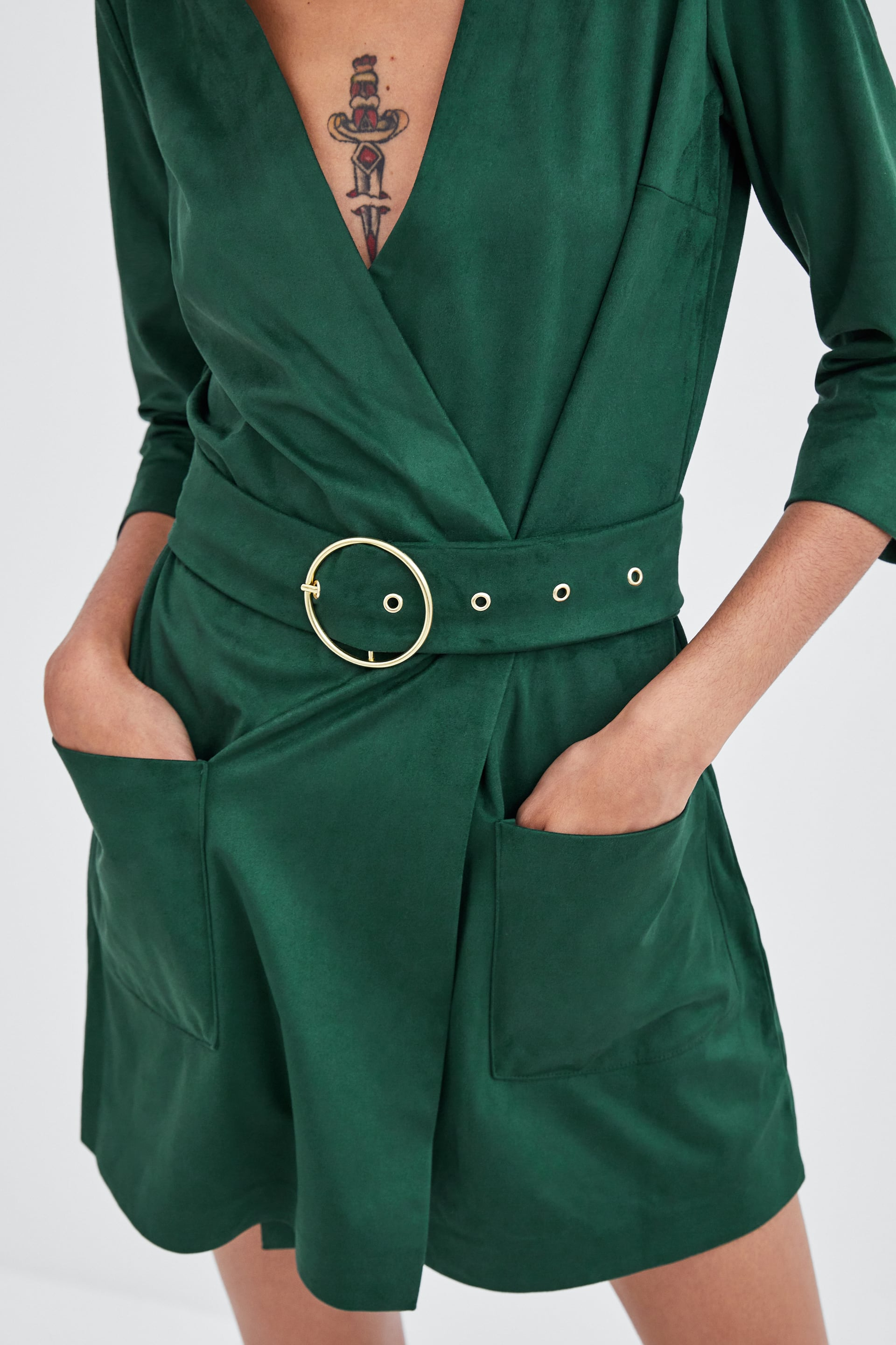41f1a4dc063 Zara FAUX SUEDE JUMPSUIT at £29.99