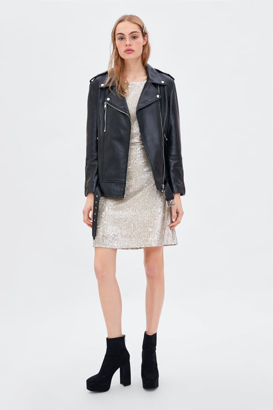 Sequin Dress  Collection Soft 80's Trf by Zara