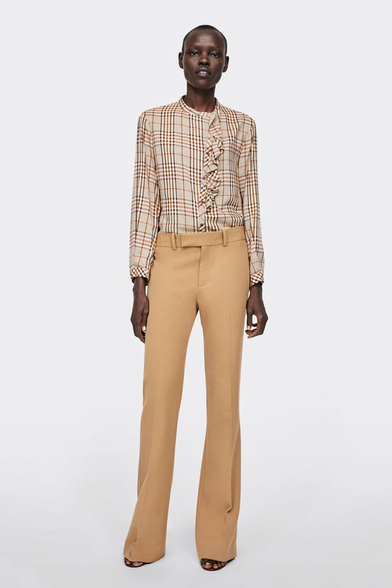 Checked Blouse With Ruffle Trims  View All Shirts by Zara