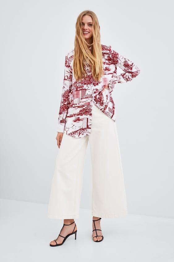 Skjorte Med BymØnster  Se Alle Skjorter Og Bluser Dame by Zara