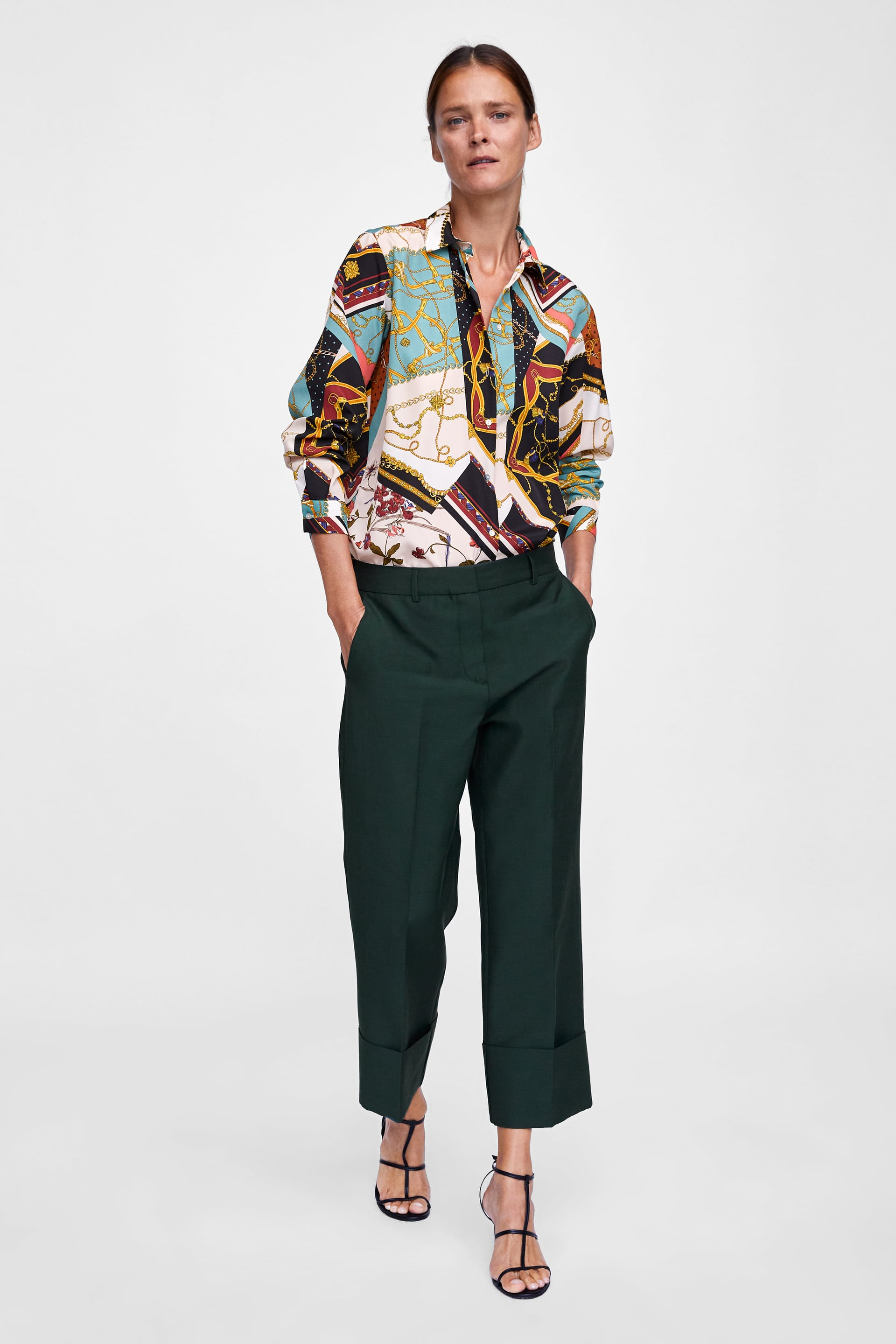 Patchwork Chain Print Blouse  New Inwoman by Zara
