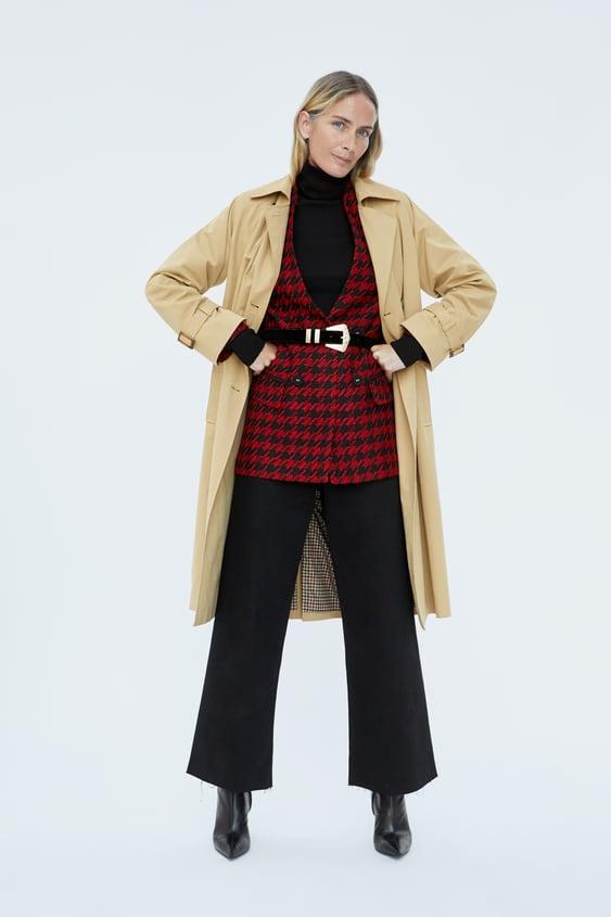 Long Houndstooth Blazer  New Inwoman by Zara