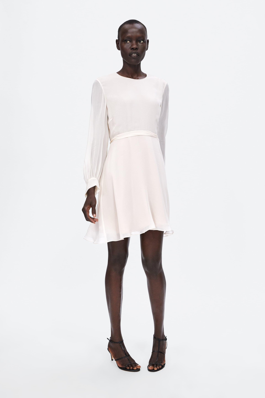Robe À Ceinture  Mini Robes Femme by Zara