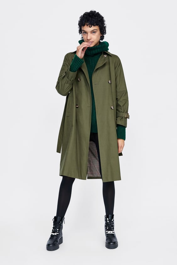 Long Trench Coat With Belt  New Inwoman by Zara