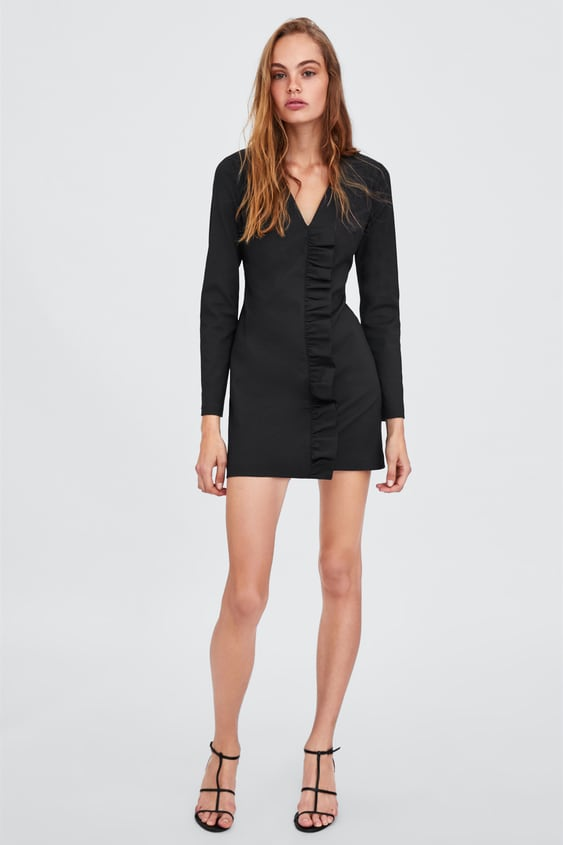 Robe À Volant  Manches Longues Robes Femme by Zara