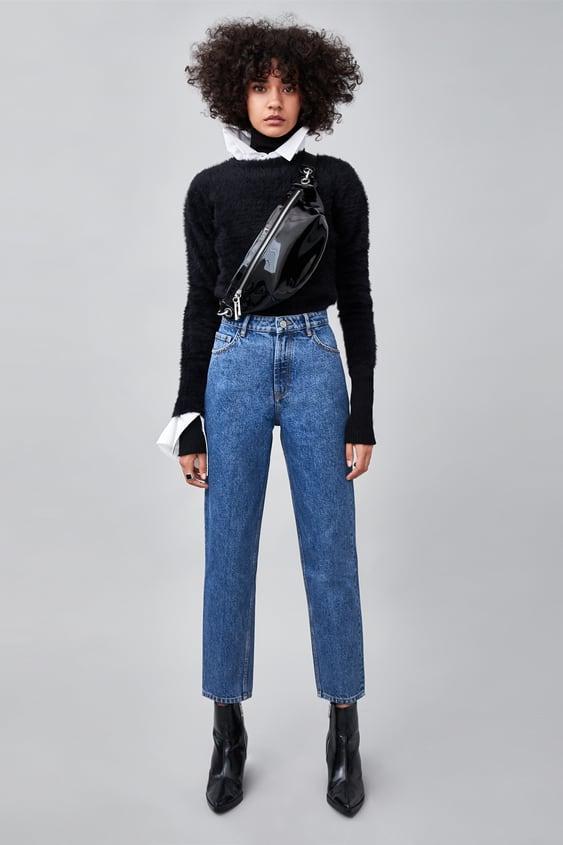Authentic Denim Mom Jeans  High Waist Rises Jeans Woman by Zara