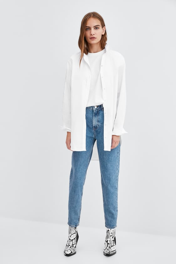 Authentic Denim Mom Fit Jeans  Mom Fit Fits Jeans Woman by Zara
