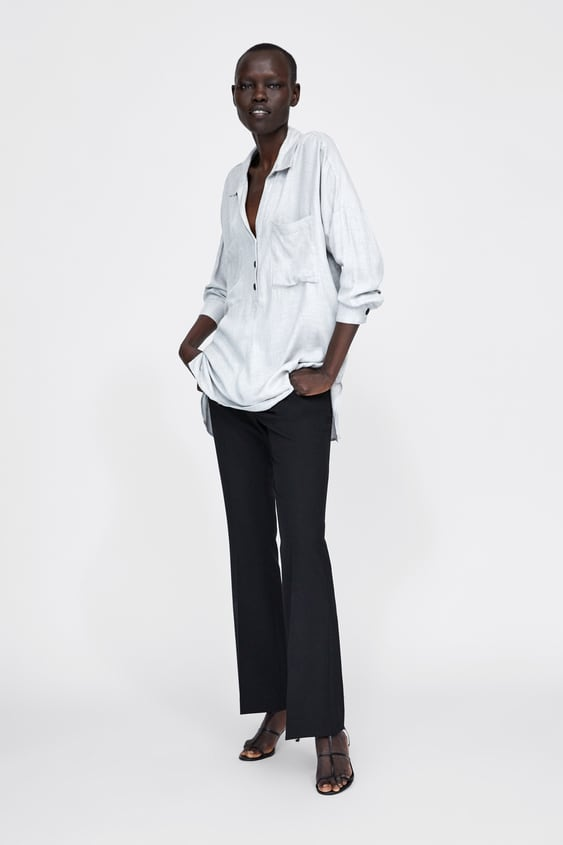 Loose  Fitting Blouse With Pockets View All Tops Woman by Zara