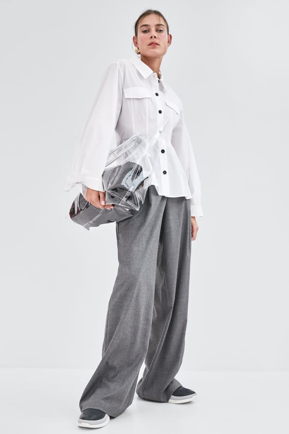 Palazzo Trousers  View All Trousers Trf by Zara