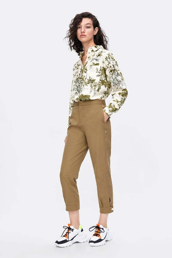 Oversized Tropical Print Blouse  Blouses Shirts by Zara