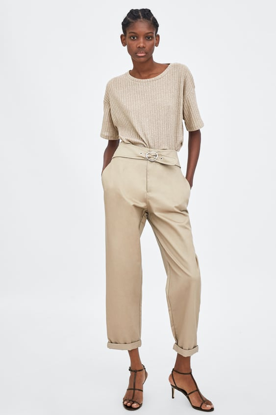 Trousers With Belt  View All Trousers Trf by Zara