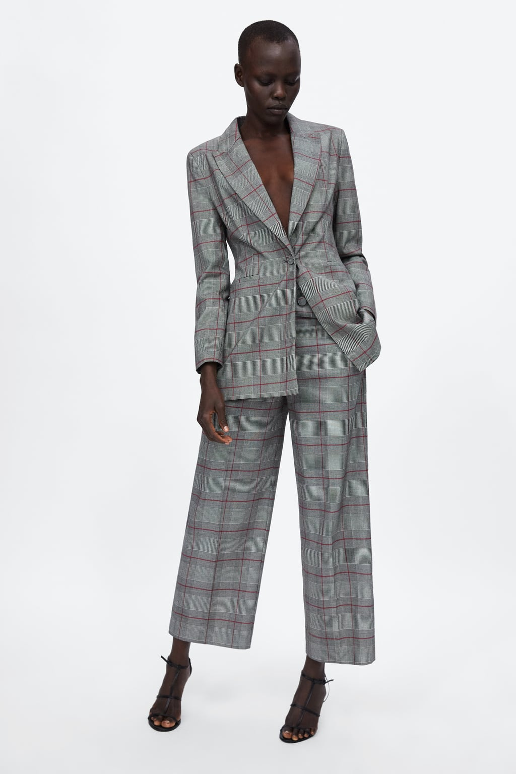 Checked Culottes  Suitswoman by Zara
