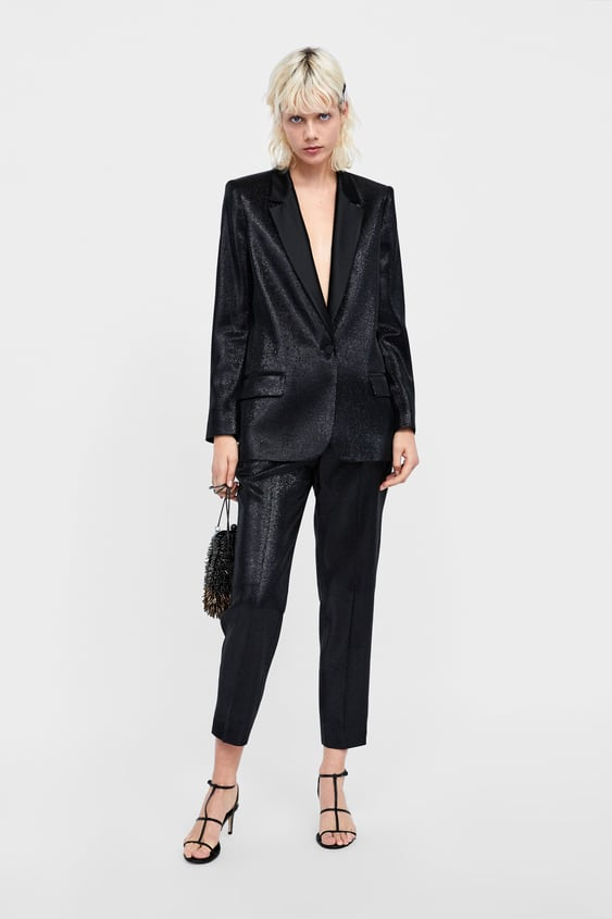 Shiny Effect Pants  New Inwoman by Zara