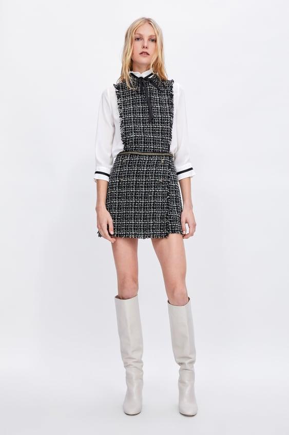Monochrome Tweed Playsuit