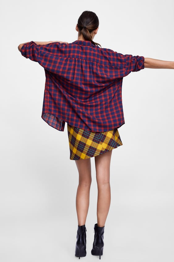 Check Blouse  New Inwoman by Zara