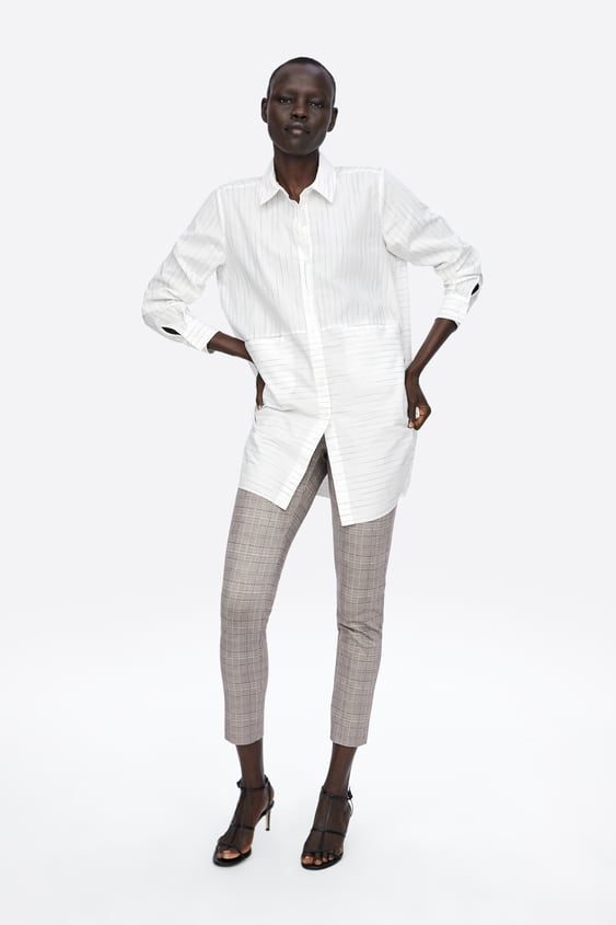 Checked Leggings  New Inwoman by Zara