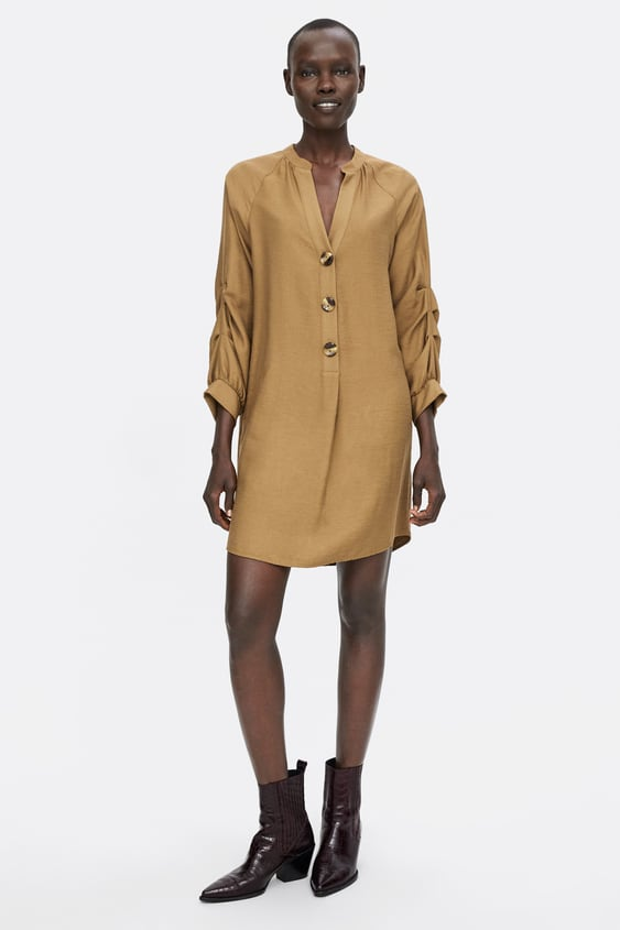 Tunic With Pleated Sleeves  View All Shirts by Zara