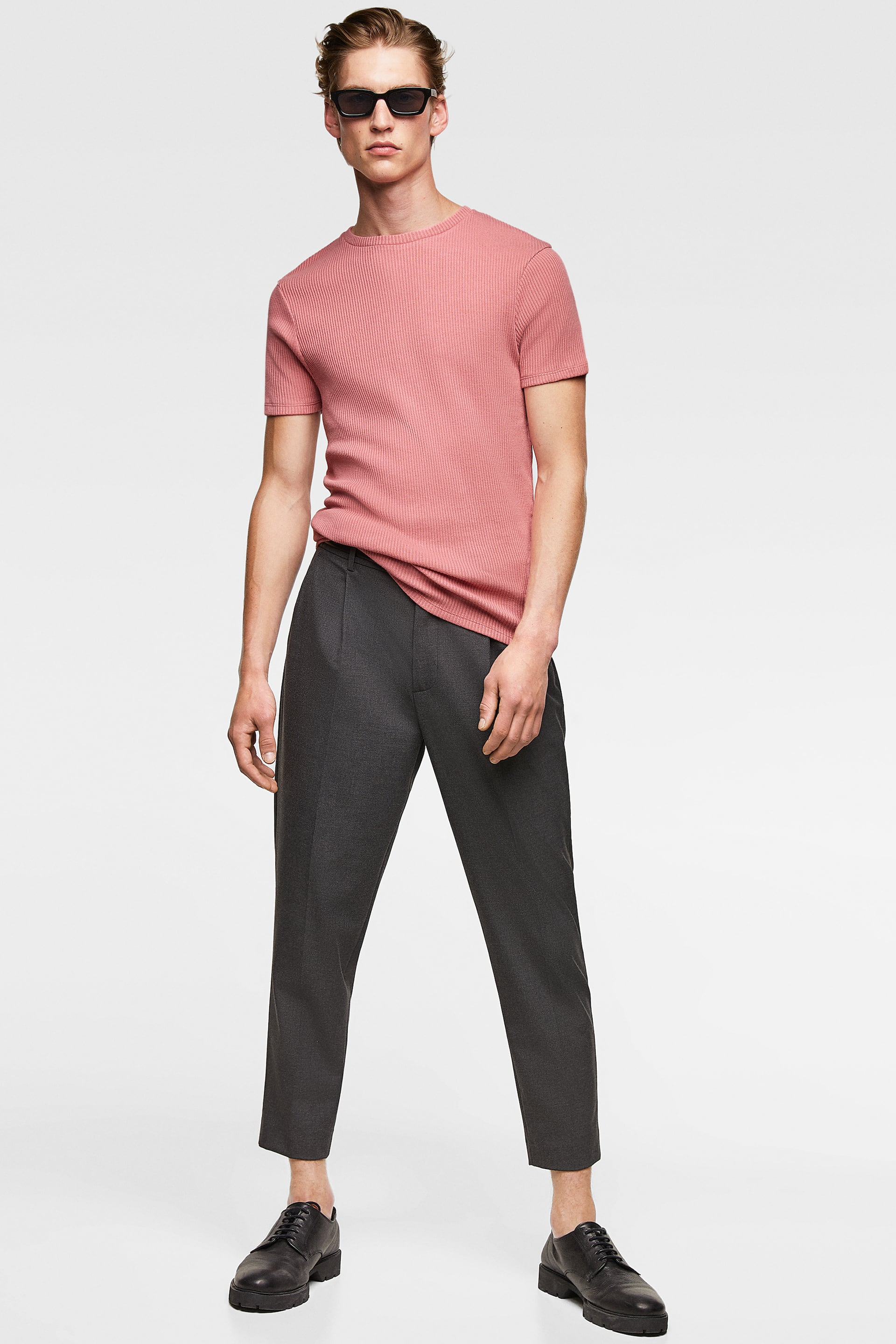 444014eb Zara MUSCLE FIT RIBBED SWEATER at £22.99 | love the brands