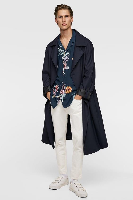 Floral Print Flowing Shirt  New Inman by Zara