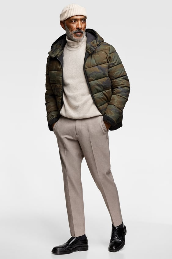 Contrasting Hooded Jacket  Padded Jackets Man by Zara