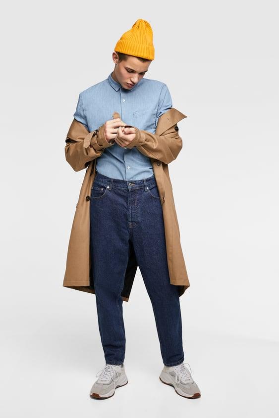 chemise en jean denim chemises homme soldes zara france. Black Bedroom Furniture Sets. Home Design Ideas