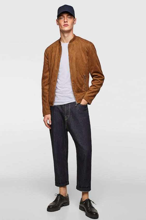 Faux Suede Bomber Jacket  View All Jackets Man by Zara