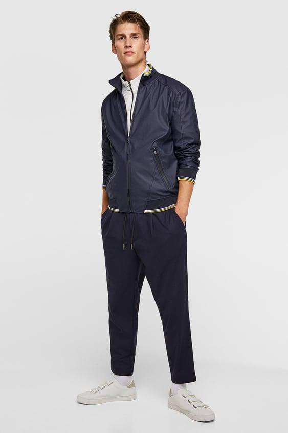 49747b47 Rubberised Jacket Windbreaker Jackets Man by Zara