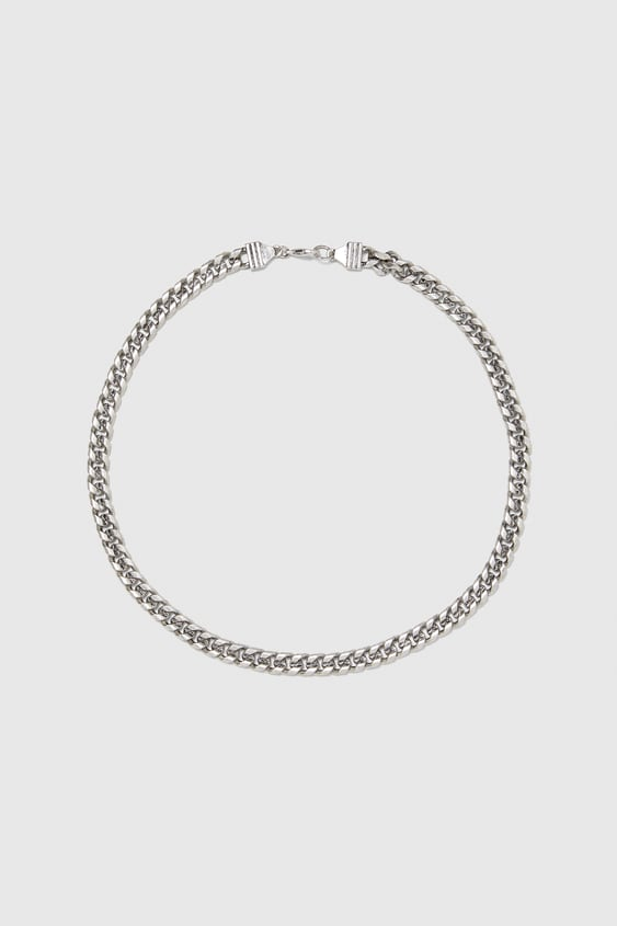 Wide Metal Chain Necklace  Jewellery Accessories Man by Zara
