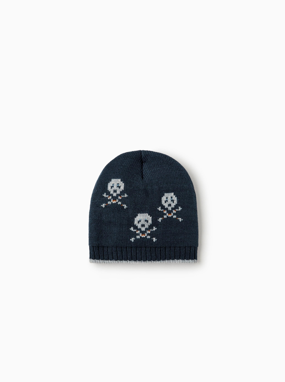 Zara SKULL PRINT CAP 721b04c0c84
