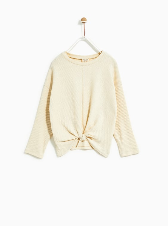 Ribbed T  Shirt With Knot Basic T Shirts Girl by Zara