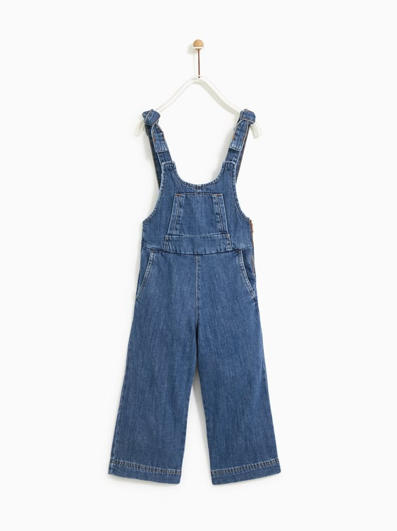Denim Overall Shorts With Ties  Jeansgirl by Zara