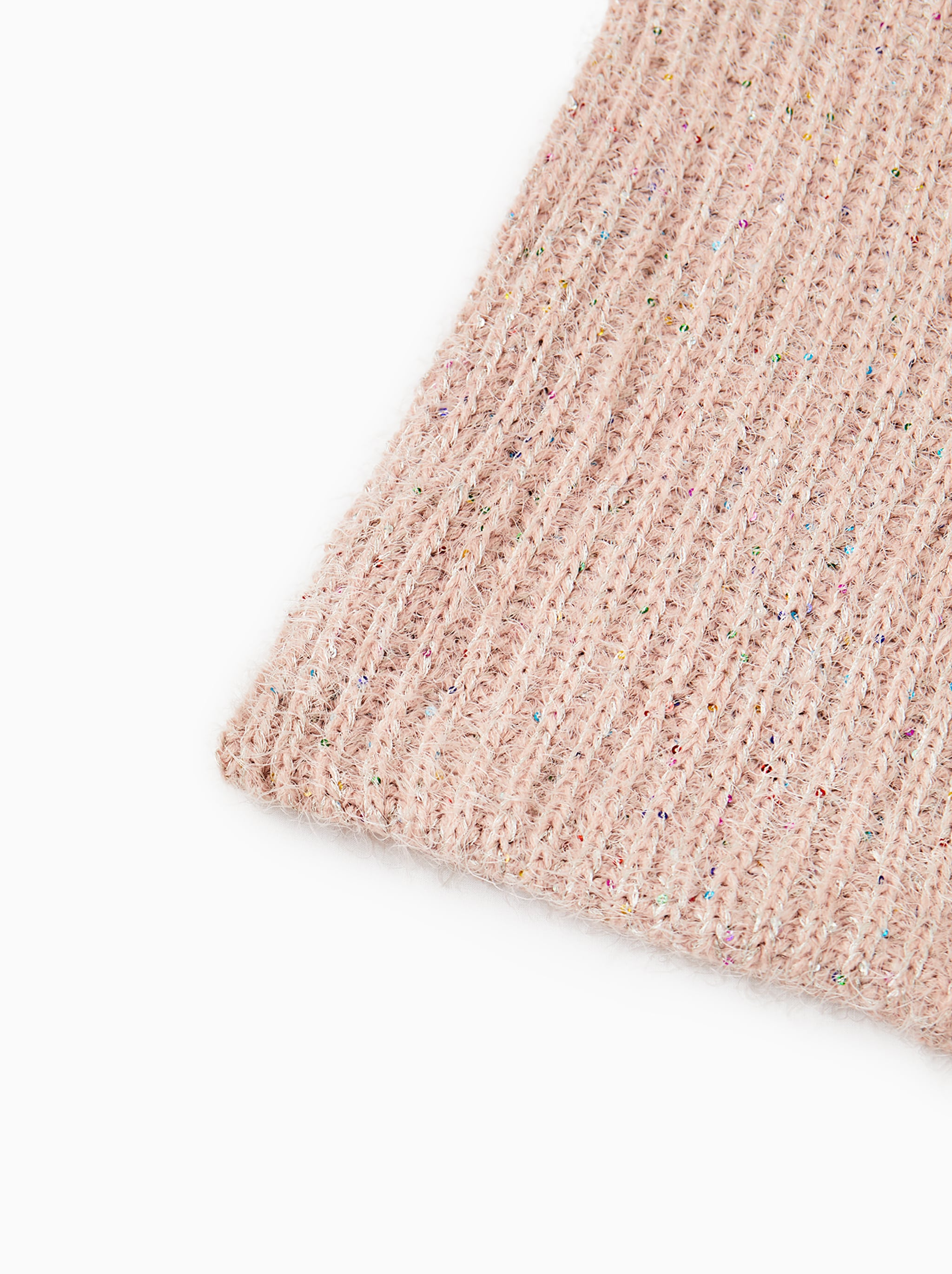 17f216a8ff6 Zara KNIT SNOOD WITH SEQUINS