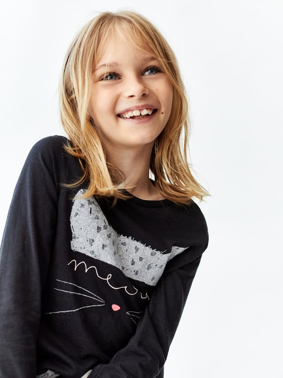 Sparkly Top  Tshirts Girl by Zara