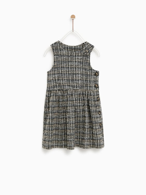 Tweed Pinafore Dress  Dresses And Jumpsuitsgirl by Zara