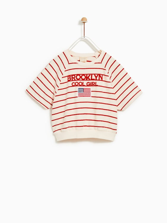"""Brooklyn"" T  Shirtt Shirts Girl by Zara"